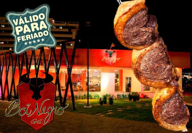 Boi Negro Buffet - Aguanambi: tradição e sabor! Rodízio de Carnes + Buffet com Pratos Quentes, Saladas e Sushi para 1 pessoa por R$24,90