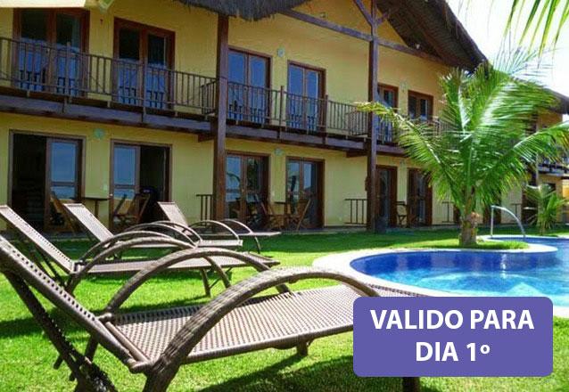Feriado só é bom em Canoa Quebrada! 3 diárias para 4 pessoas e 1 criança de até 5 anos por R$1.299 na Pousada Sirius Canoa