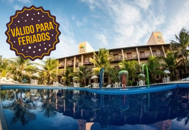 Curta o feriadão na praia! 3 diárias para 2 pessoas e 1 criança + café da manhã por R$650 no Hotel Jangadas da Caponga