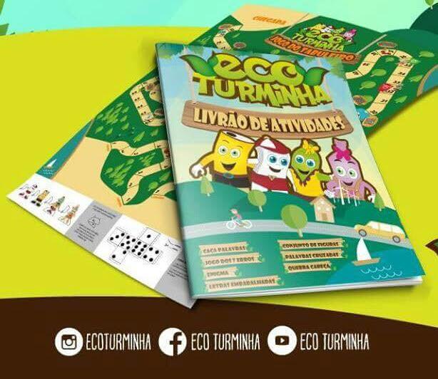 Aprender se divertindo com a Ecoturminha! 2 Livrões de atividades + 2 Jogos de tabuleiro + 1 Lápis que depois de utilizado ao final pode ser plantado e transforma-se em árvore por R$9,90