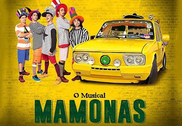 """Relembre a trajetória dos Mamonas no teatro! 01 Ingresso Plateia Superior para """"O Musical Mamonas"""" no Theatro Via Sul por apenas R$24"""