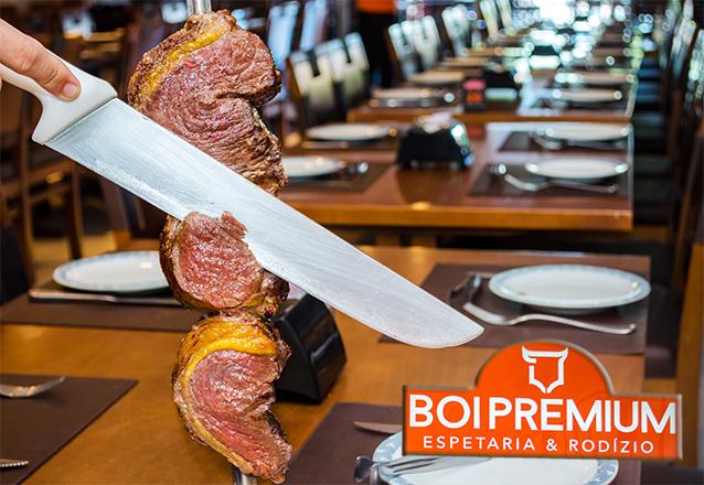 É o melhor! Rodízio de Carnes, Buffet com Pratos Quentes, Saladas e Sushi para 1 pessoa por R$23,99 no Boi Premium Buffet Harmony