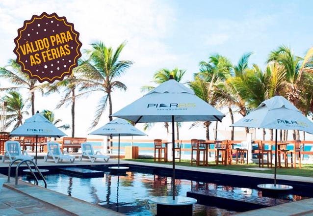 Para você aproveitar as férias em grande estilo! 2 diárias para casal e 1 criança + café da manhã por R$389 no Píer 85 Hotel Praia & Lounge