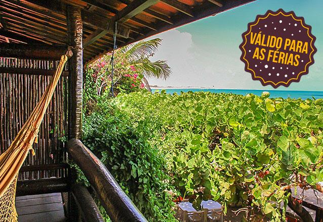 Suas férias em uma das melhores praias do Ceará! 2 diárias com café da manhã para 2 pessoas e 1 criança por R$299 na Pousada Vira Sol, em Flecheiras