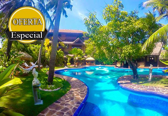 Oferta Relâmpago! 2 diárias em Suíte Luxo com piscina no quarto para 2 pessoas com café da manhã por R$899 no Orixás Art Hotel