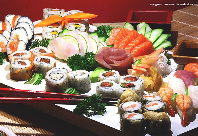 Rodizio de Sushi + Buffet completo para 1 pessoa de R$73 por R$39,90
