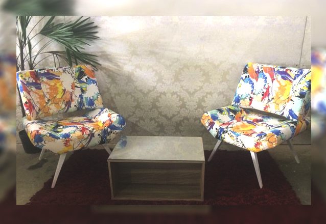 Conforto e estilo! Poltrona Vitória de diversas cores na Jatobá Estofados de R$350 por apenas R$189