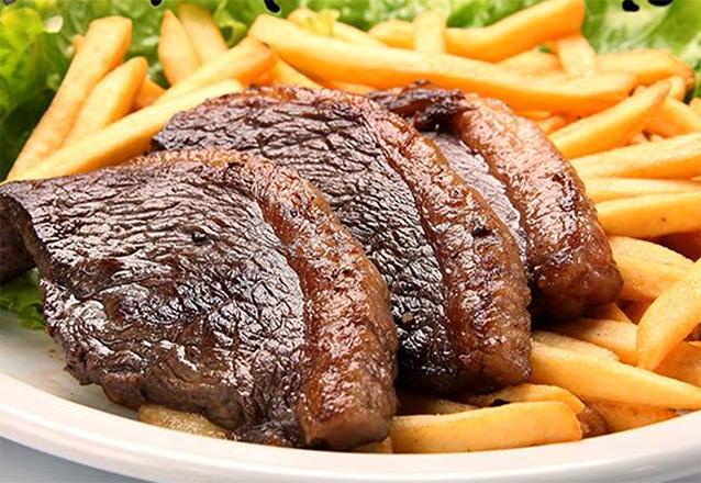 Boa gastronomia em um lugar descontraído para você! 300g de Picanha + 200g de Batata Frita + 1h de Sinuca de R$51,90 por apenas R$34,90