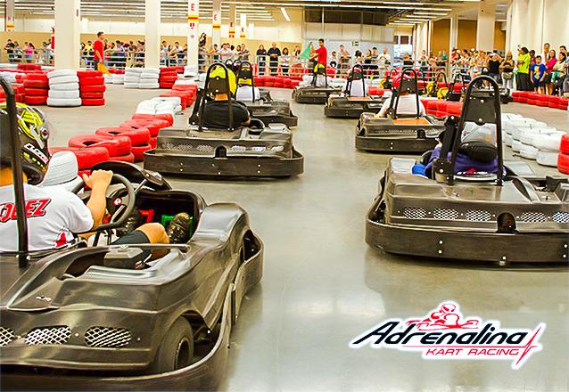 Muita adrenalina e diversão em uma super pista de kart! Corrida de Kart com 20 voltas para 1 pessoa por R$39,90 no Adrenalina Kart