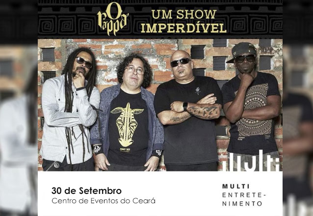 """O Rappa + Nação Zumbi em Fortaleza! Ingresso Inteira Pista para o show do """"O Rappa"""" no Centro de Eventos do Ceará por apenas R$59"""
