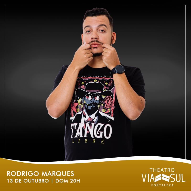 """Um dos maiores humoristas do Brasil! Ingresso Inteira Plateia Alta para """"O Problema é Meu"""" com Rodrigo Marques no Theatro ViaSul de R$80 por apenas R$38,40"""