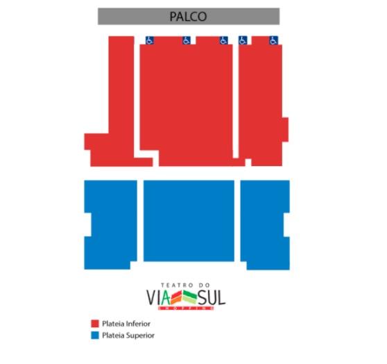 Ingresso Inteira Mezanino dia 11/10, às 21h de R$40 por R$18,40