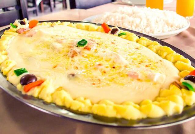 Peixes e frutos do mar? É no Sirigado da Barão! Prato de Filé de Peixe com 3 opções para até 3 pessoas por apenas R$59,90