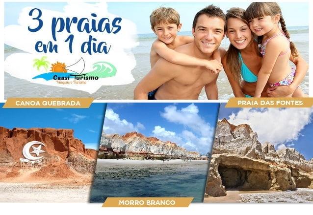 3 lindas praias em um úncio dia! Passeio para Canoa Quebrada, Morro Branco e Praia das Fontes para 1 pessoa por R$39,90 com Caasi Turismo