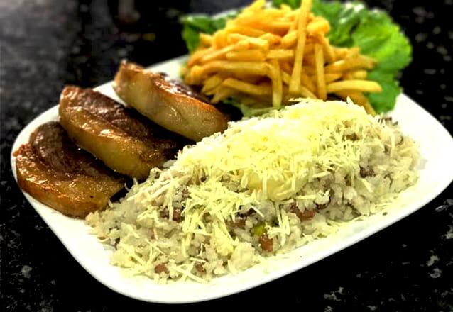 Para os fãs de uma boa carne! Picanha Completa com Baião, Batata frita, Farofa e Vinagrete para 2 pessoas por R$44,90 na Churrascaria Arcos