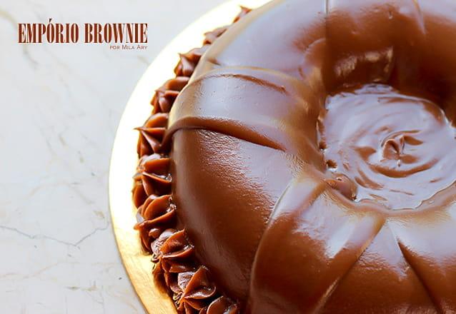 A loja mais conceituada de brownies! Torta de Cupcake de Chocolate (pesa 2,1 kg, serve até 20 pessoas) por apenas R$79,90 na Empório Brownie